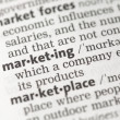 Marketing definition — Stock Photo