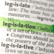 Legislation definition highlighted in green - Stock Photo