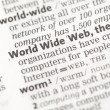 World Wide Web definition — Stock Photo