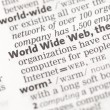 World Wide Web definition — Stock Photo #24149227