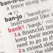 Bank definition — Stock Photo