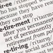 Foto Stock: Retirement definition