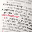 Stock Photo: Customer definition
