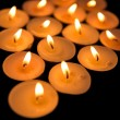 Candles in diamond shape - Stock Photo