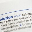 Solution definition — Stock Photo