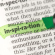 Stock Photo: Inspiration definition highlighted in green