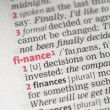 Stock Photo: Finance definition