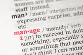 Manage definition — Stock Photo