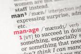 Manage definition — Stock Photo