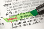 Global definition highlighted in green — Stock Photo