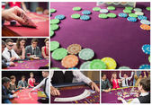 Collage of casino imagery — Stock Photo