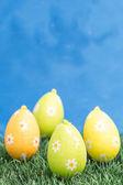 Four easter eggs — Stockfoto