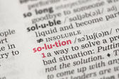 Definition of solution — Stock Photo