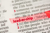 Leadership definition highlighted in red — Stock Photo