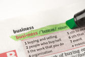 Highlighted definition of business — Stock Photo