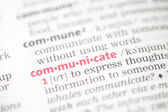 Communicate definition — Stock Photo