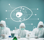 Lab workers experimenting in the lab — Stock Photo