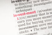 Investment definition — Stock Photo