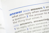 Answer definition — Stock Photo