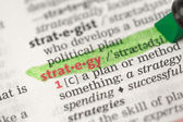 Highlighted definition of strategy — Stock Photo