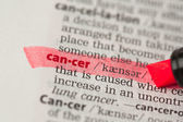 Cancer definition highlighted in red — Stock Photo