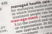 Management definition — Stock Photo