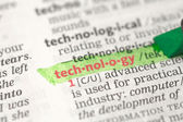 Technology definition highlighted in green — Stock Photo