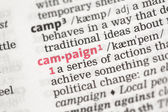Campaign definition — Fotografia Stock