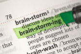 Brainstorming definition highlighted in green — Stock Photo