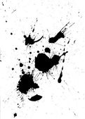 Siyah boya sıçrama ve blob tasarım — Stok fotoğraf