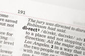 Direct definition — Stock Photo