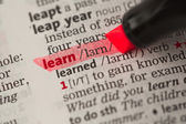 Learn definition highlighted in red — Stock Photo