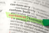 Customer definition highlighted in green — Stock Photo