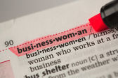 Businesswoman definition highlighted in red — Stock Photo