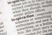 Inspiration definition — Stock Photo