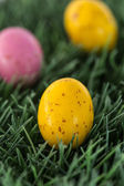 Small speckled easter eggs — Stock Photo