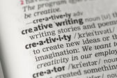 Creativity definition — Stock Photo