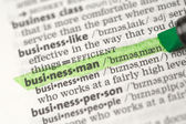 Businessman highlighted — Stock Photo