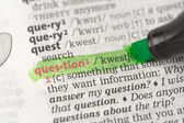 Highlighted definition of question — Stock Photo