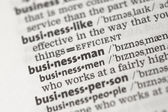 Business definitions — Stock Photo
