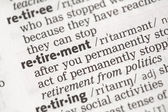 Retirement definition — Stock Photo