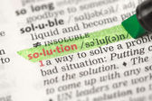 Highlighted definition of solution — Stock Photo
