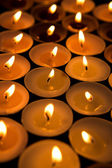 Candles lighting up the dark — Stock Photo