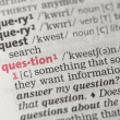 Question definition — Stock Photo #24150053