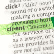 Client definition highlighted in green — Stock Photo #24150111