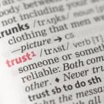 Trust definition — Stock Photo