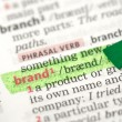 Brand definition highlighted in green — Stock Photo #24150185