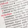 Relation definition — Stock Photo