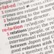 Relation definition — Stock Photo #24150209