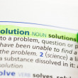 Solution definition highlighted — Stock Photo